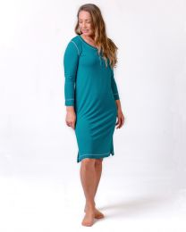 Bamboo Sleepwear Separates - Long Sleeve Henley Nightie