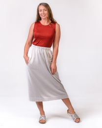 Optimum Cotton Midi Skirt with Pockets