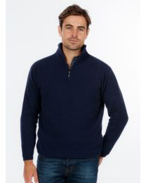 Native World Possum Merino Half Zip Sweater