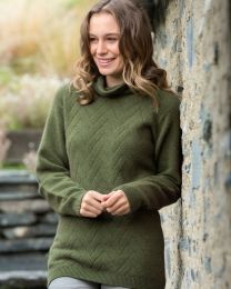 Noble Wilde Possum Merino Longline Basketweave Sweater