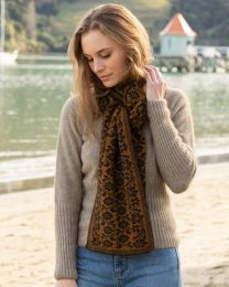 Noble Wilde Possum Merino Jacobean Scarf