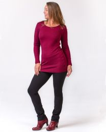 Bay Road Merino Longline Demi Scoop Top