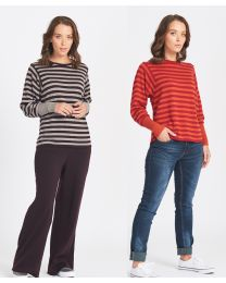 Optimum Merino Batwing Striped Sweater