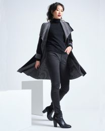 Optimum Merino Draped Coat