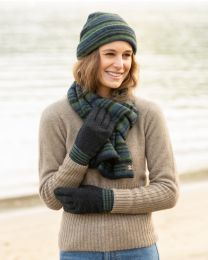 Noble Wilde Possum Merino Multi Stripe Gloves