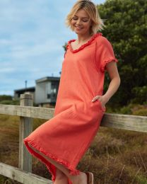 Madly Sweetly Linen the Life Dress