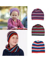 Native World Children's Possum Merino Striped Beanie