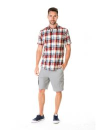 Men's Hemp Cotton Plaid Shirt