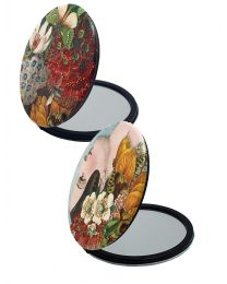 Cosmetic Mirror with Vintage NZ Florals