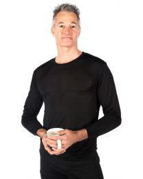 Men's Silk Long Underwear Top